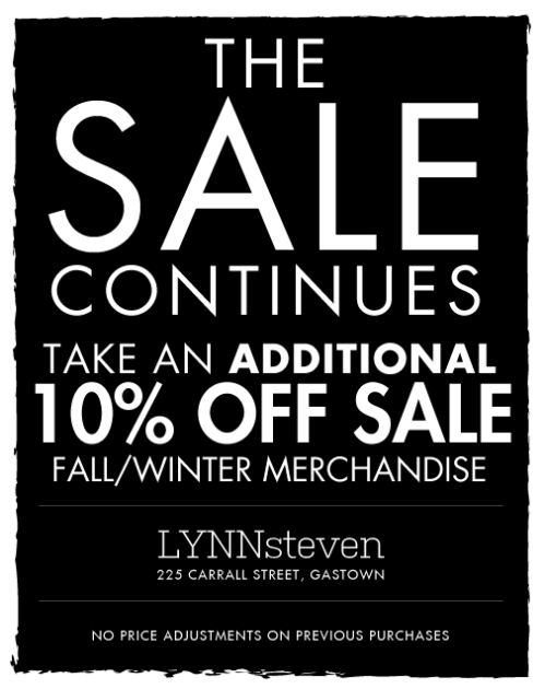 LYNNsteven 2013 winter sale continues