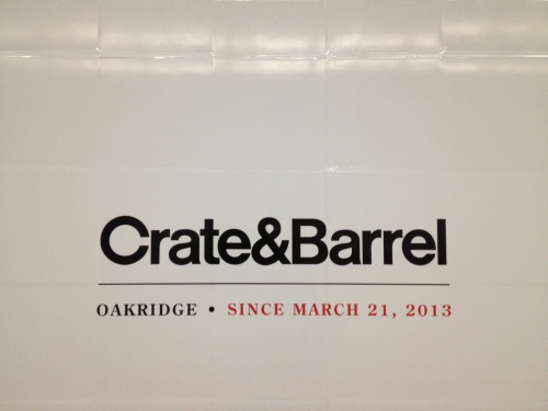 Crate & Barrel Opening Date in Vancouver