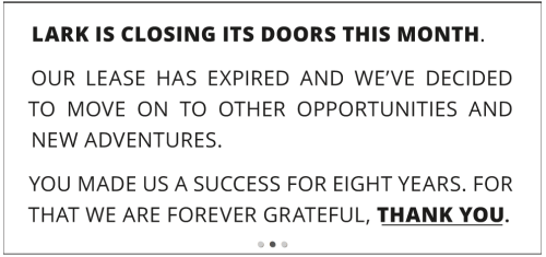 Lark closing message