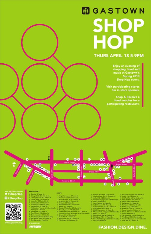 Gastown Shop Hop Spring 2013