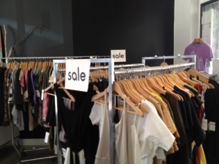 Sales racks at dream