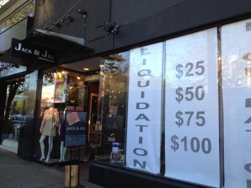 Jack & Jill - liquidation sale