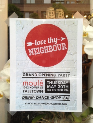 Moule Yaletown Grand Opening poster