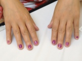 A participant's lovely nails