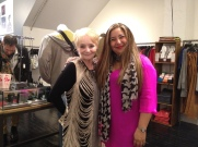 Loyal customer Sue Ennis & Mara Maldonado, Moule Yaletown Store Manager