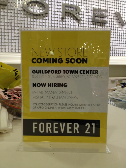 Forever 21 Opening at Guildford