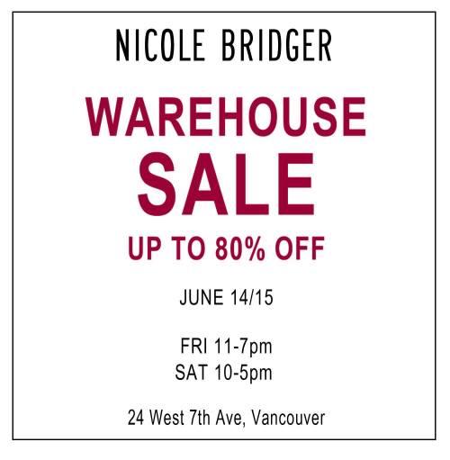 Nicole Bridger Sale 2013