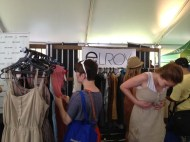 The busy crowd at Elroy's booth