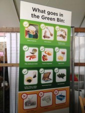 Educating consumers on Vancouver's new green compost bin