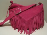 Hot Pink Suede Fuchsia Leather Purse