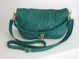 Emerald Green Recycled Leather Purse