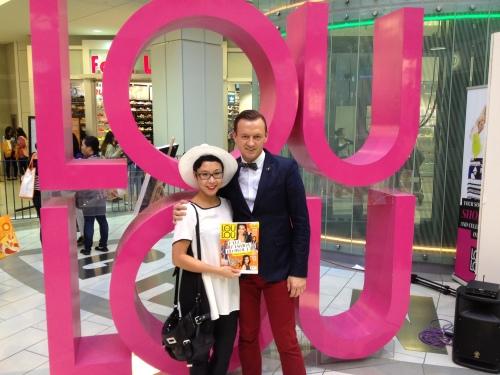 Miranda with loulou Magazine editor, Claude Laframboise
