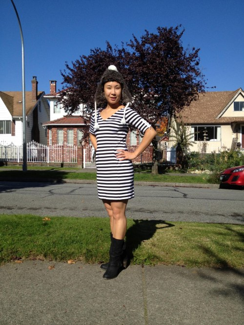 Black & White Banana Republic striped dress