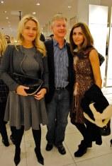 Cruelty free handbag designer Cornelia Guest, John Nicols, and Pamela Mota e Cunha