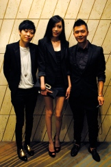 Betty Tam and Wendy Tam, students at UBC, and Jowen Xu, Dolce & Gabbana Specialist at Holt Renfrew