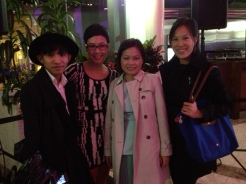 Mc'Kenneth of Little Fashionisto, Miranda, Truc Nguyen Sr Market Editor of Flare Magazine, Vanessa Choot editor of Modern Mix Vancouver