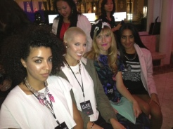 The TOPSHOP personal shopping team: Eve Obayoriade, Gabby Cromer, Sandra Zovko, and Ishra Sharif