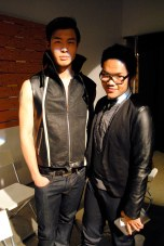 Model Eric JW Li and designer Mark Abenir
