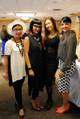 The black & white crew! With Sue Randhawa, Anastacia Shorohov, and Raj Johal