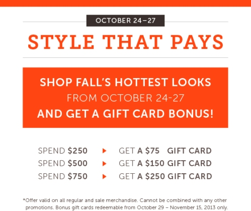 Wear Else Gift Card Bonus