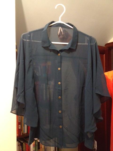 Miranda's sheer blouse