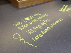 The writable surfaces: great for ideas