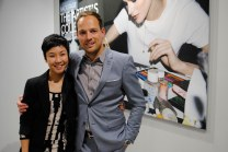 Miranda and La Biosthétique General Manager Philip Jung