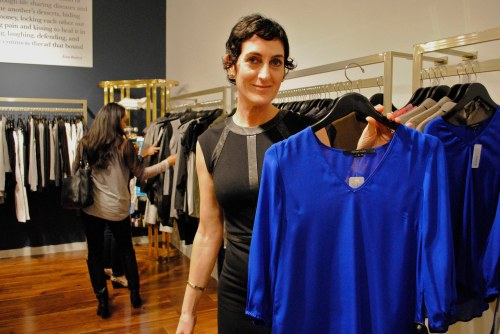 Rachel Gorenstein, designer of Rachel Mara, with one of her favourite pieces