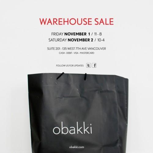 Obakki Warehouse Sale