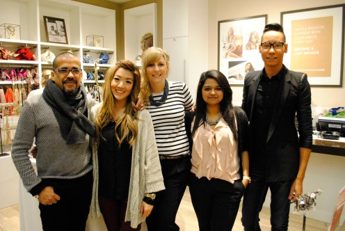 LOFT's management team: Victor, Cece, Stephanie (store manager), Neha, and Chris