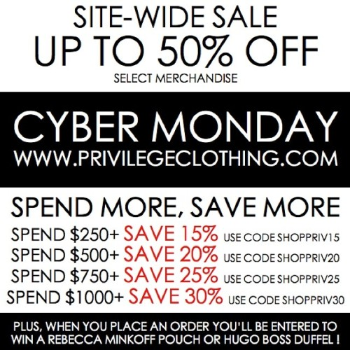 cyber monday privilege clothing