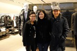 Miranda with stylish shoppers: Grace and David.