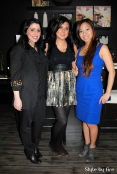Bare Essentials owner Amy Sahota and friends
