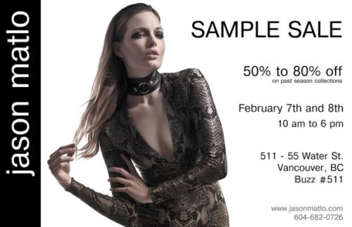 Jason Matlo sample sale