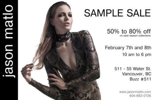 Jason Matlo sample sale