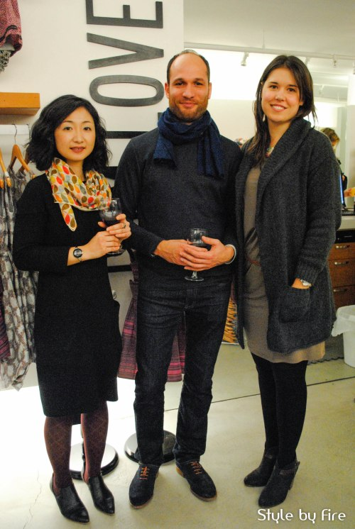 Hiroko Kobayashi and Neil Prakash of hk + np studio with Nicole Bridger